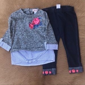 Little Lass Baby Girl Set Size 24M